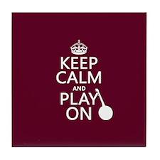 Keep Calm and Play On (banjo) Tile Coaster
