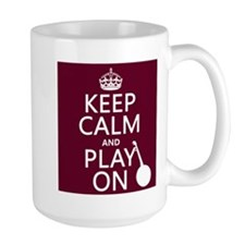 Keep Calm and Play On (banjo) Mugs