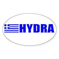 Hydra, Greece Oval Decal
