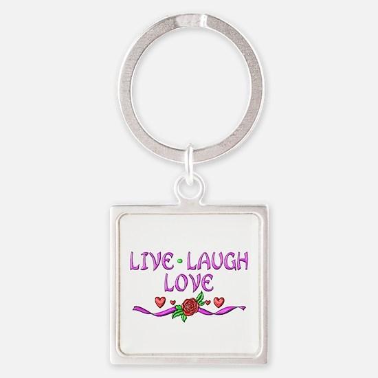 Live Laugh Love Square Keychain