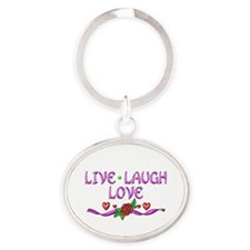 Live Laugh Love Oval Keychain