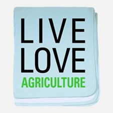 Live Love Agriculture baby blanket