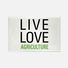 Live Love Agriculture Rectangle Magnet