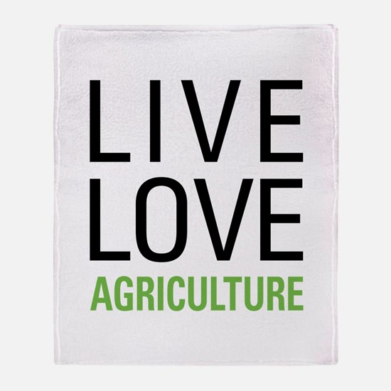 Live Love Agriculture Throw Blanket