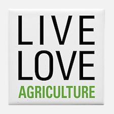 Live Love Agriculture Tile Coaster