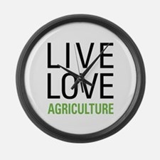 Live Love Agriculture Large Wall Clock