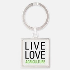 Live Love Agriculture Square Keychain