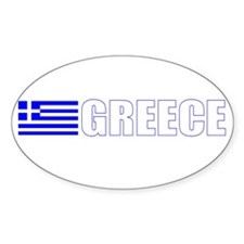Greece Flag Oval Decal