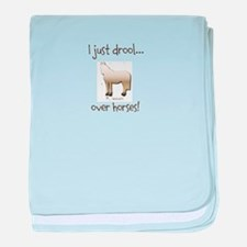 Horse Theme Design #51000 baby blanket