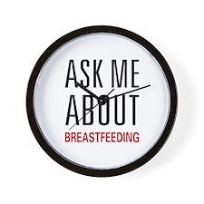 Ask Me Breastfeeding Wall Clock