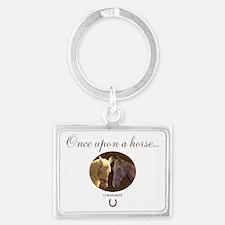 Horse Theme Design #55000 Landscape Keychain