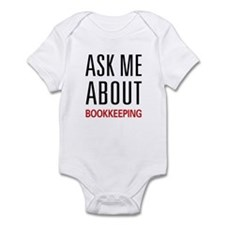 Ask Me About Bookkeeping Infant Bodysuit