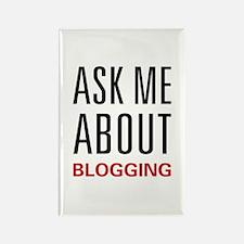 Ask Me Blogging Rectangle Magnet