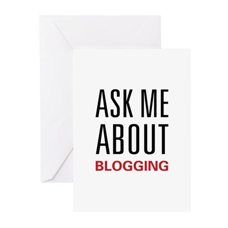 Ask Me Blogging Greeting Cards (Pk of 10)