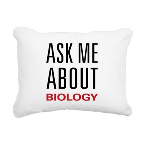 askbio.png Rectangular Canvas Pillow