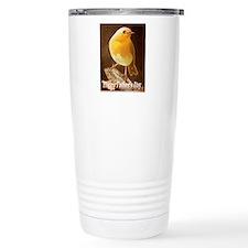 Robin in a Fathers Day Card Travel Mug