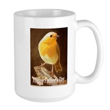 Robin in a Fathers Day Card Mugs