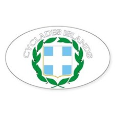 Cyclades Islands, Greece Oval Decal