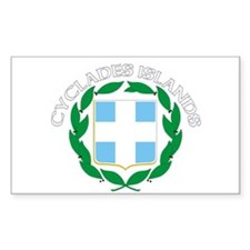 Cyclades Islands, Greece Rectangle Decal