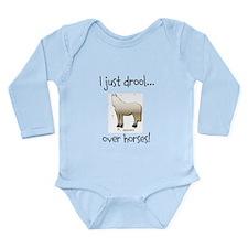 Horse Theme Long Sleeve Infant Bodysuit #9524
