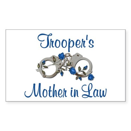 Trooper's Mother in Law Rectangle Sticker