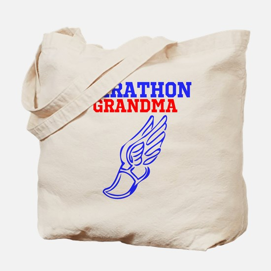 MARATHON GRANDMA Tote Bag