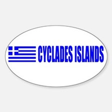Cyclades Islands, Greece Oval Decal