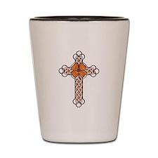 Wood Cross Shot Glass