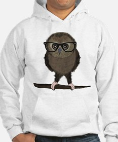 Hipster Owl with Glasses Hoodie