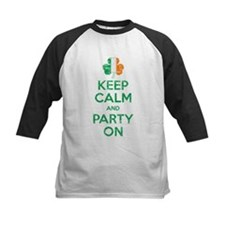 Keep Calm And Party On Irish Flag Shamrock Basebal
