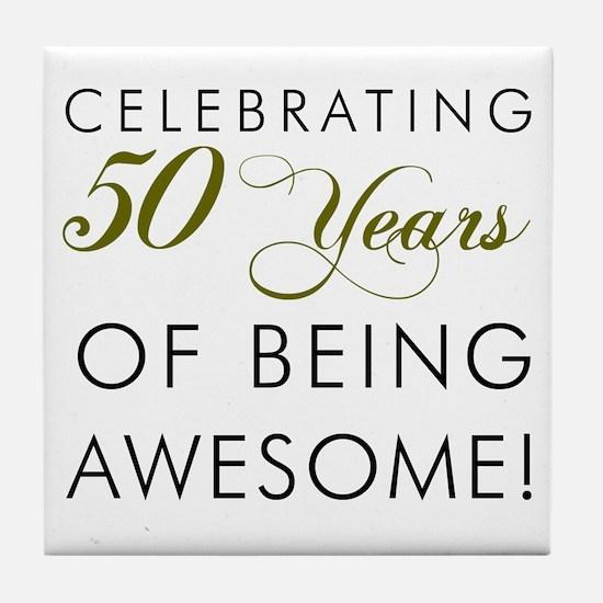 Celebrating 50 Years Tile Coaster