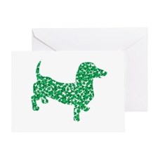 Lucky Shamrock Dachshund Greeting Card