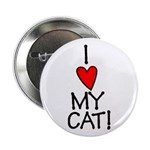 I Love My Cat! Button
