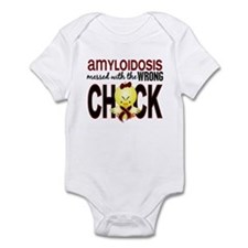 Messed With Wrong Chick Amyloidosi Infant Bodysuit