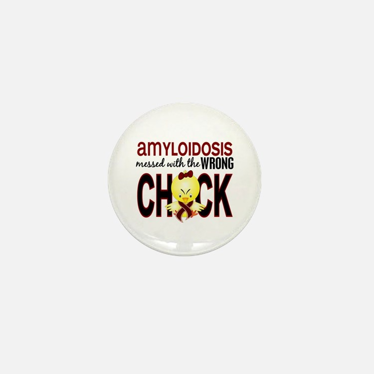 Messed With Wrong Chick Amyl Mini Button (10 pack)