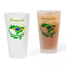 Pandeiro - Vintage Drinking Glass
