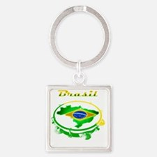 Pandeiro - Vintage Square Keychain