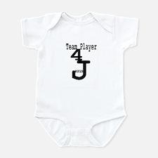 Team Player 4 Jesus Infant Bodysuit
