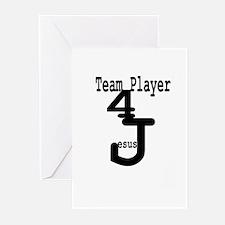 Team Player 4 Jesus Greeting Cards (Pk of 10)