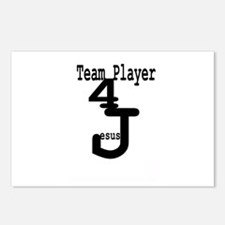 Team Player 4 Jesus Postcards (Package of 8)