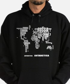 Typography World Map Hoodie