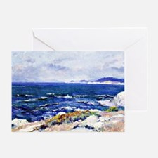Carmel Coast, painting by Guy Rose Greeting Card