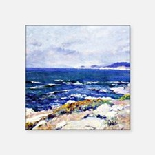 "Carmel Coast, painting by G Square Sticker 3"" x 3"""