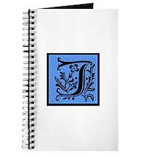 Blue Fleur Monogram J Journal