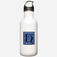 Blue Fleur Monogram H Water Bottle