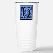 Blue Fleur Monogram H Travel Mug