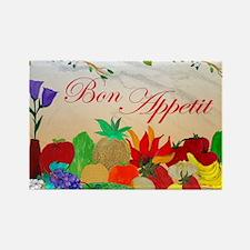 Bon Appetit Rectangle Magnet