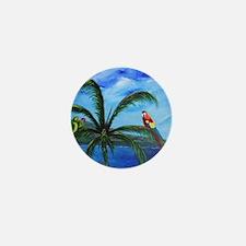 Tropical Parrots Mini Button