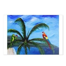 Tropical Parrots Postcards (Package of 8)