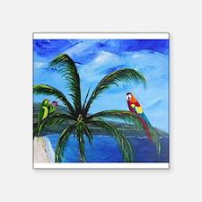 Tropical Parrots Sticker